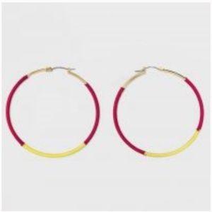 Sugarfix by Baublebar thread wrapped hoop earrings